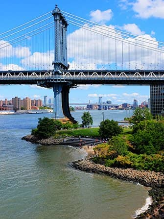 Brooklyn Bridge Park en Nueva York - Manhattan Bridge