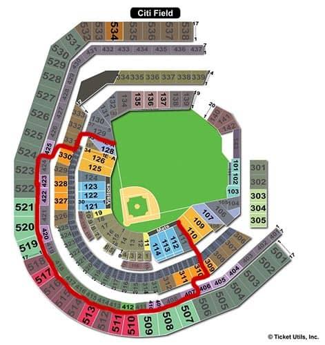 New York Mets - Plano del Citi Field