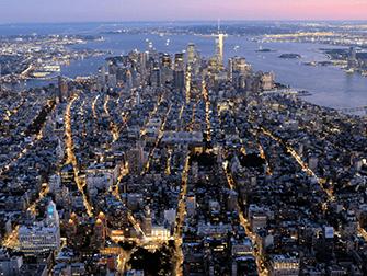 Vuelo en helicóptero por la noche y crucero en Nueva York - Downtown