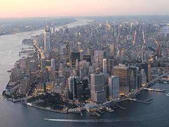 Vuelo en helicóptero por la noche y crucero en Nueva York - Manhattan