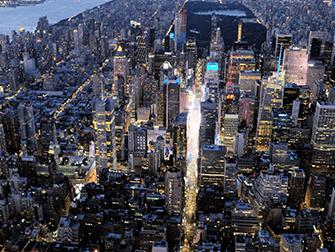 Vuelo en helicóptero por la noche y crucero en Nueva York - Times Square