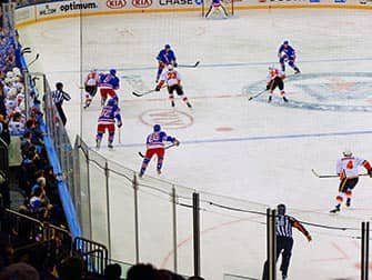 New York Rangers- Partido de hockey