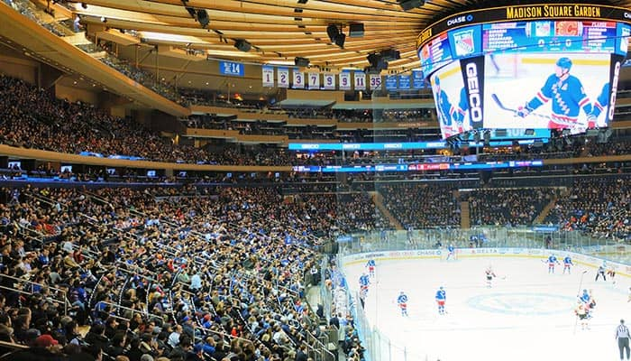 New York Rangers - Partido en el Madison Square Garden