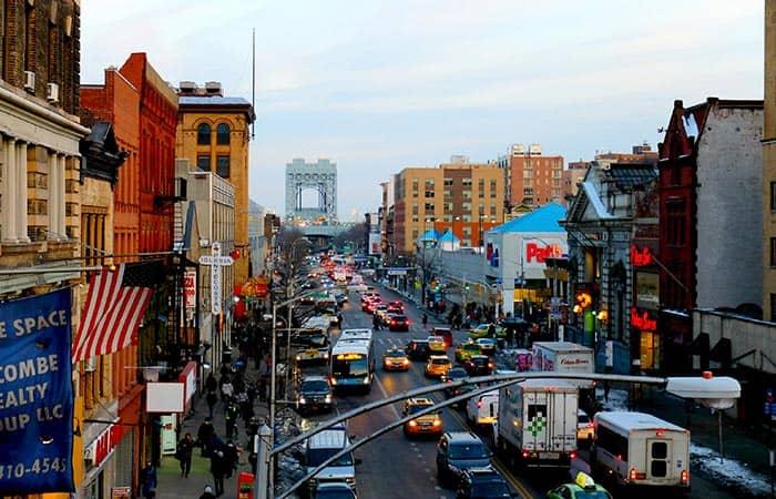 Spanish Harlem en Nueva York - Vista desde la estacion de tren 125th