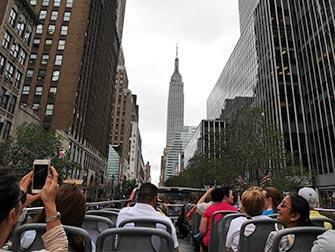 Bus hop on hop off CitySights en Nueva York - Empire State