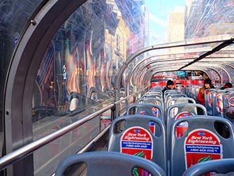 Bus hop on hop off Gray Line en Nueva York - Piso de arriba