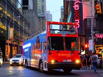Bus hop on hop off Gray Line en Nueva York - Recorrido nocturno