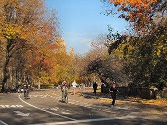 Alquiler de bicicletas en Nueva York - Central Park en otono