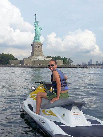 Nadar en Nueva York - jetski