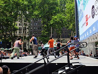 Broadway en Bryant Park - Stomp