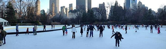 Patina sobre hielo en Nueva York