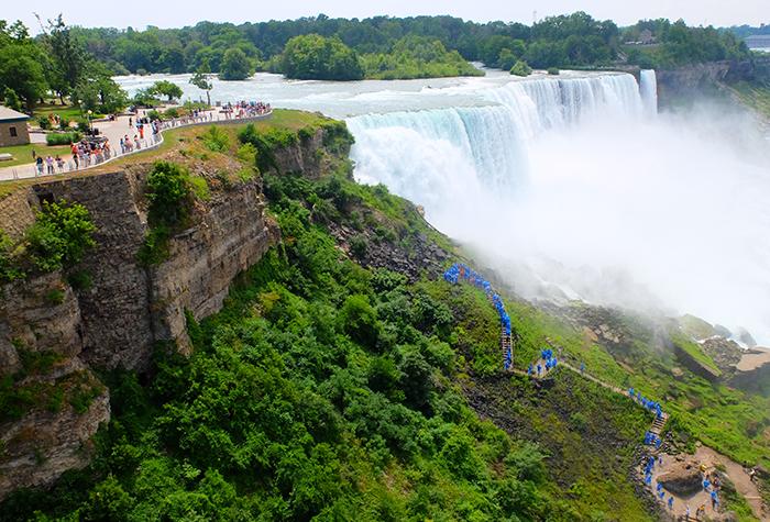 Excursión desde Nueva York hasta Niagara Falls en bus - Vistas desde un punto de observación