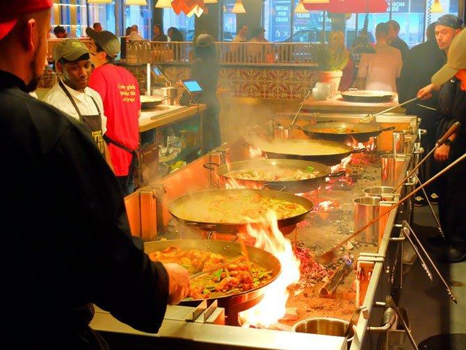 Mercado Little Spain en Nueva York - Comida
