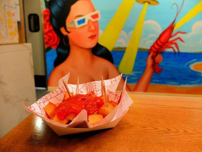 Mercado Little Spain en Nueva York - Patatas bravas